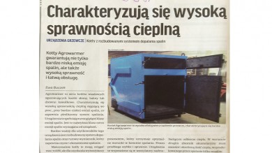 Press releases about Agrowarmer boiler