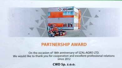 Meeting in Hungary - partnership award
