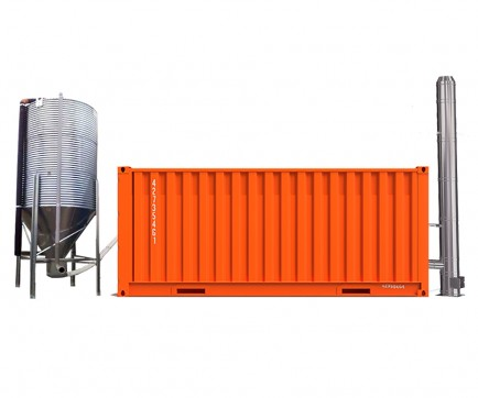 Heat container with Silos 300 kW