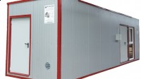 Biomass heat container